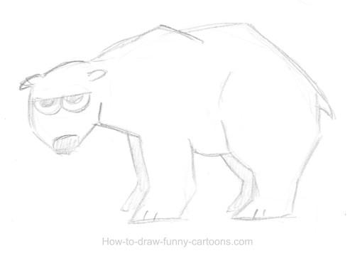 Drawn polar  bear sketch Polar Polar vector) drawings bear