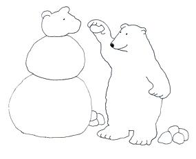 Drawn polar  bear snow bear Of Art Polar art making