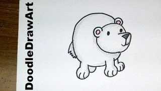 Drawn polar  bear thumbnail Baby To Draw Drawing: Polar