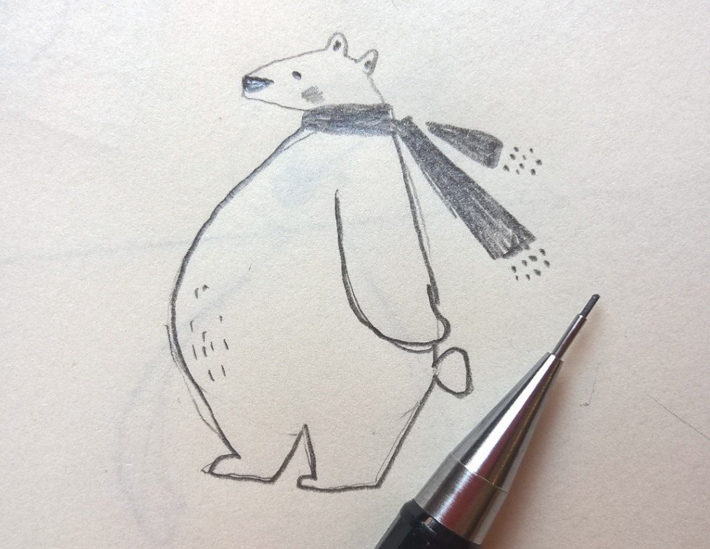 Drawn polar  bear tiny Twitter: on #sketchbook #sketchbook Rampton