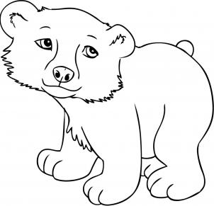 Drawn polar  bear tundra animal #2