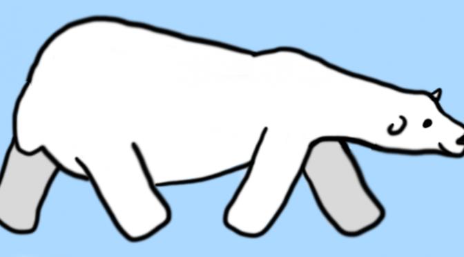 Drawn polar  bear tundra animal #4