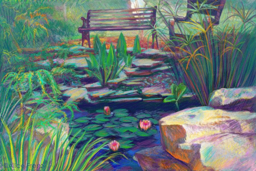 Drawn pond lily pond Frenz Lily lily alice my