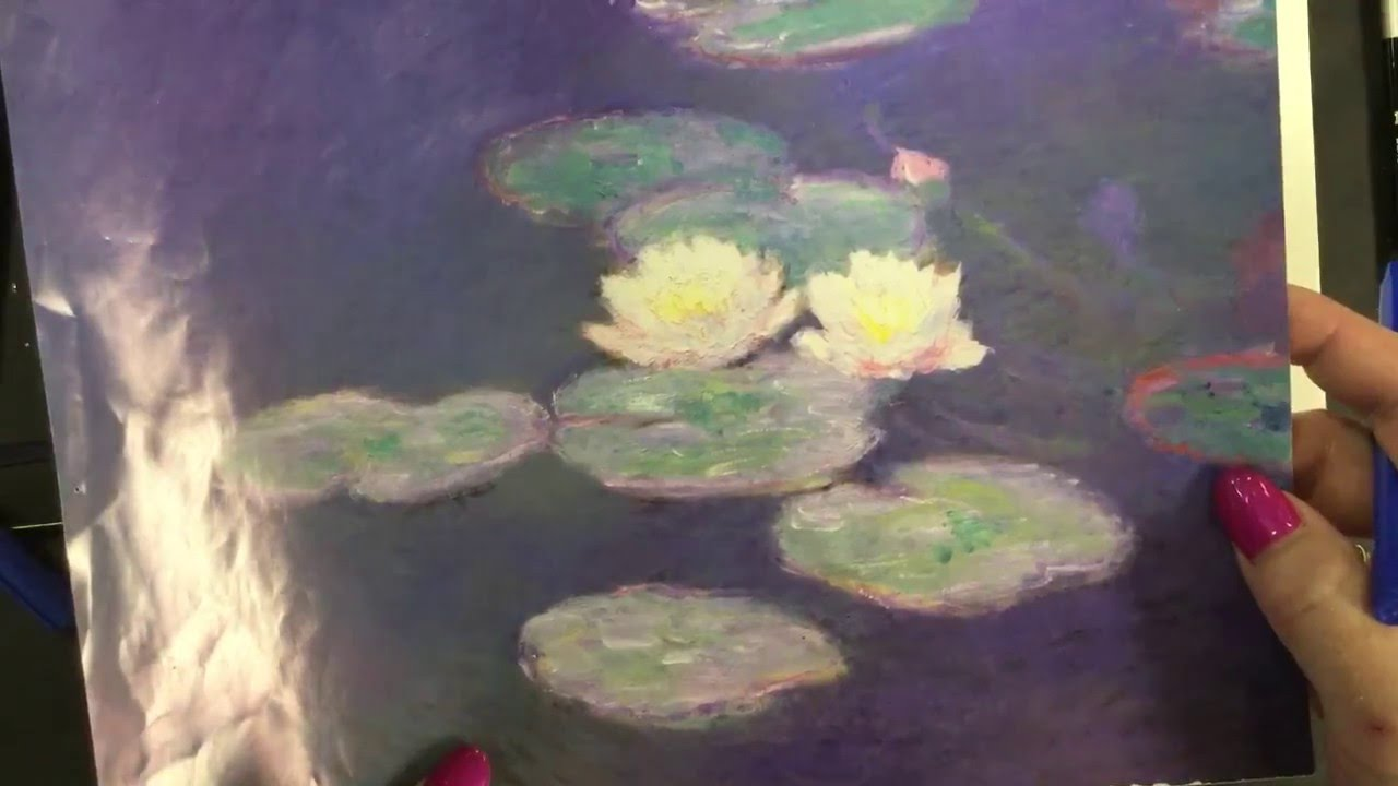 Drawn pond lily pond How Monet's  to Pond