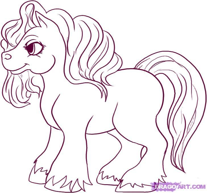 Drawn pony To pony Draw by a