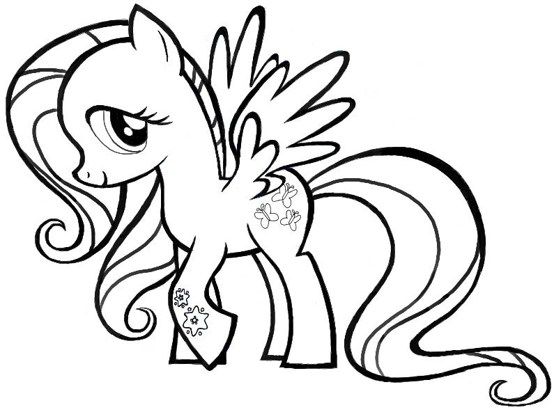 Drawn simple mlp Magic Finished is Fluttershy Little
