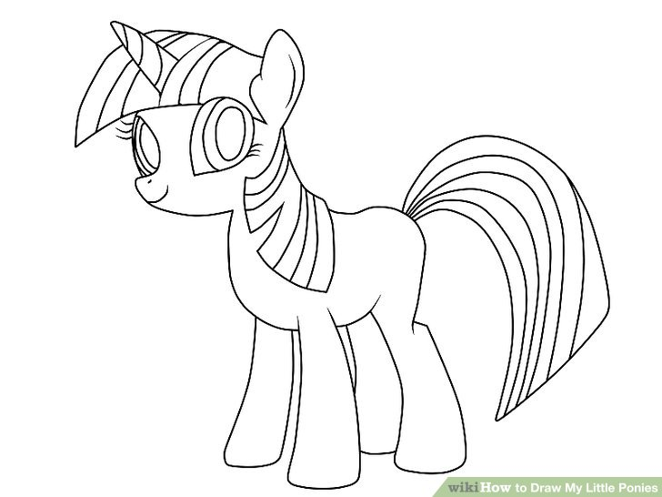 Drawn my little pony Little titled Ponies 6 to