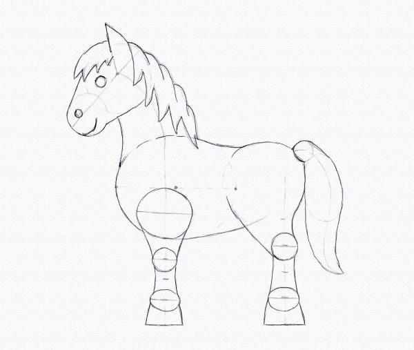 Drawn pony A Drawing Pony pony for