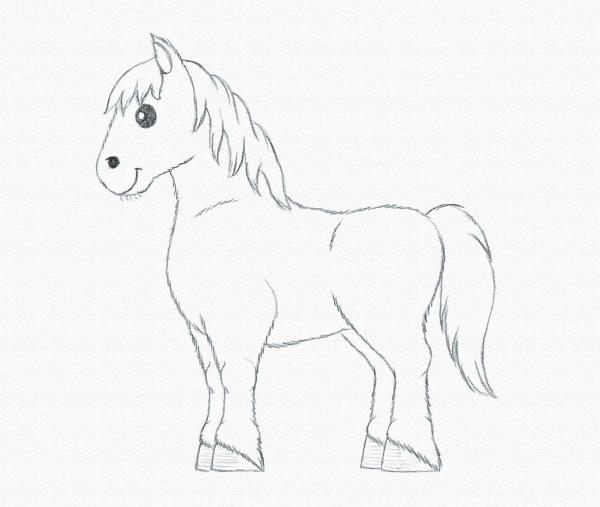 Drawn pony Draw beginner a Pony pony