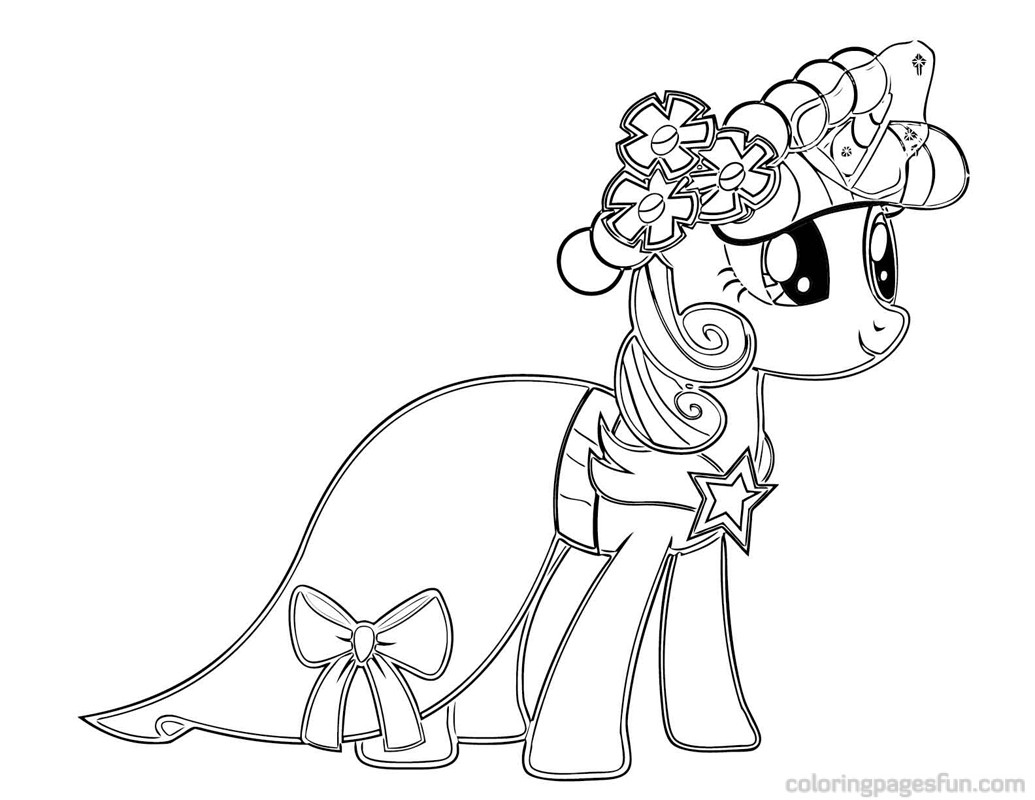 Drawn pony coloring book Castle My Sparkle  Little