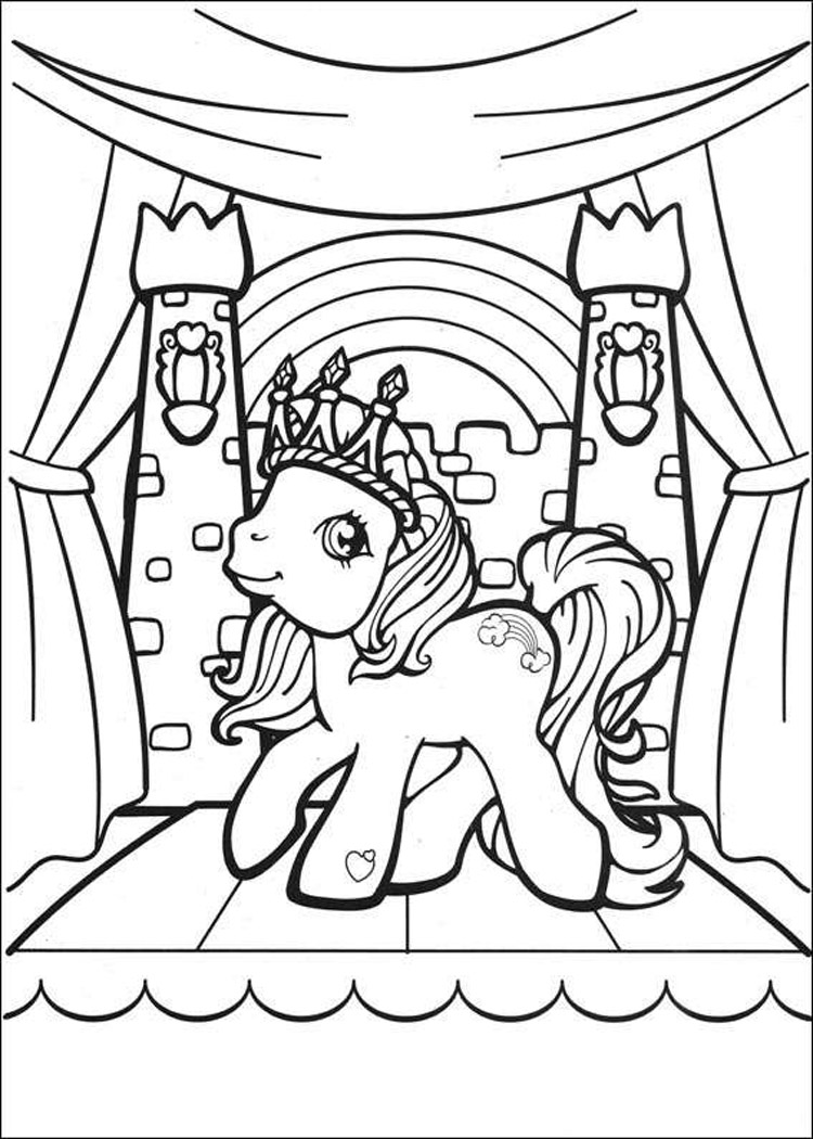 Drawn pony coloring book Are old  are never