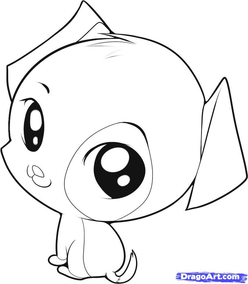 Drawn animl cute puppy Chibi  animals an cartoon