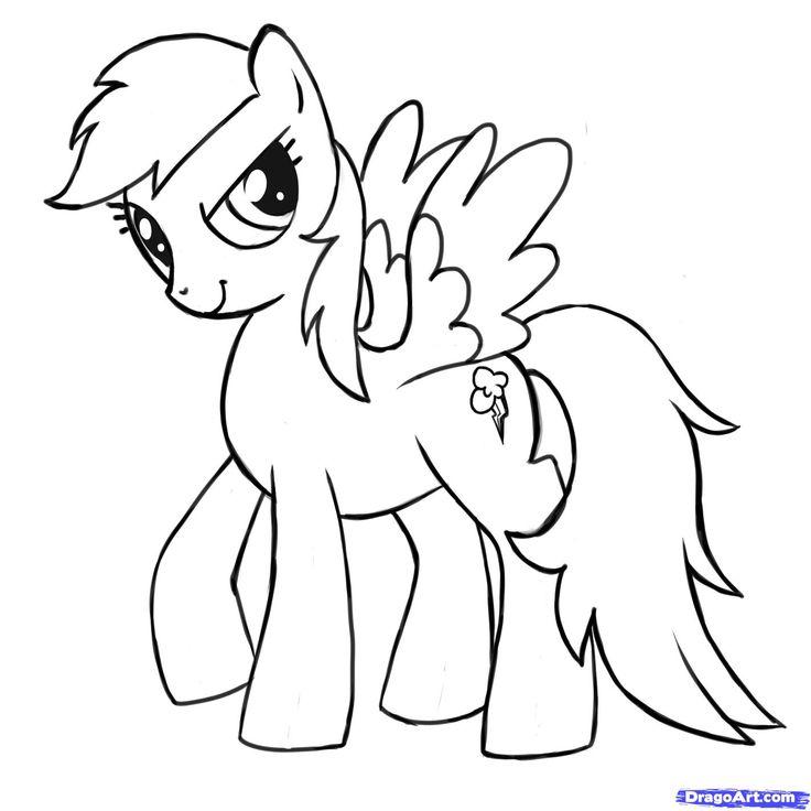Drawn pony for kid Rainbow Pony Friendship is to
