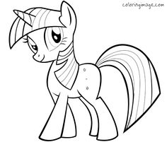 Drawn pony for kid Characters! sparkle Pony and pages