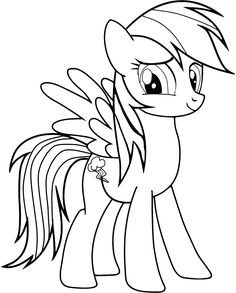 Drawn pony for kid Online Twilight Colouring Page ColoringPin