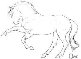 Drawn pony line art Agaave DeviantArt Horse Free lineart