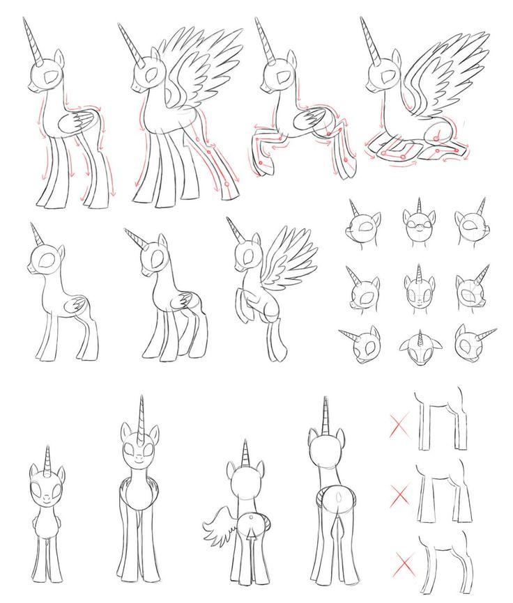 Drawn pony line art A mlp to images @DeviantArt