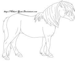 Drawn pony line art By DeviantArt Yumi Leopard Black
