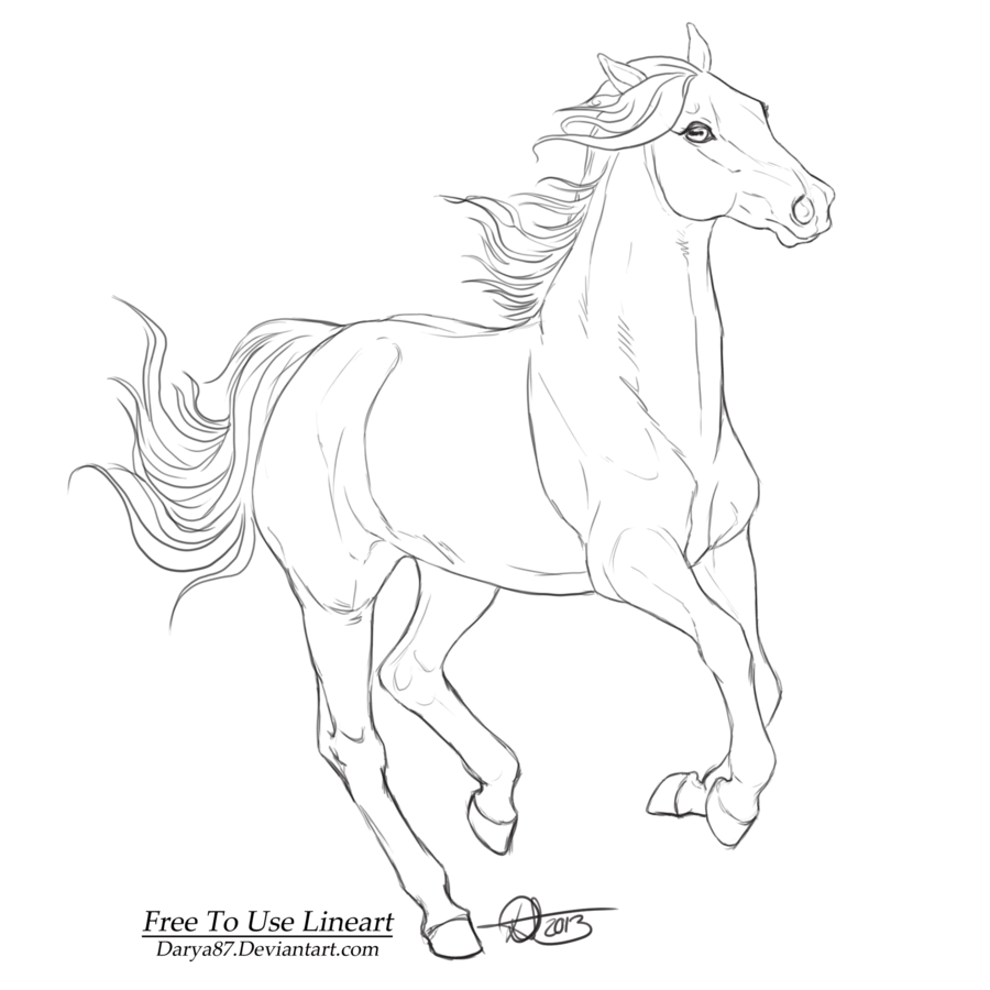 Drawn pony line art By on lineart: Free DeviantArt