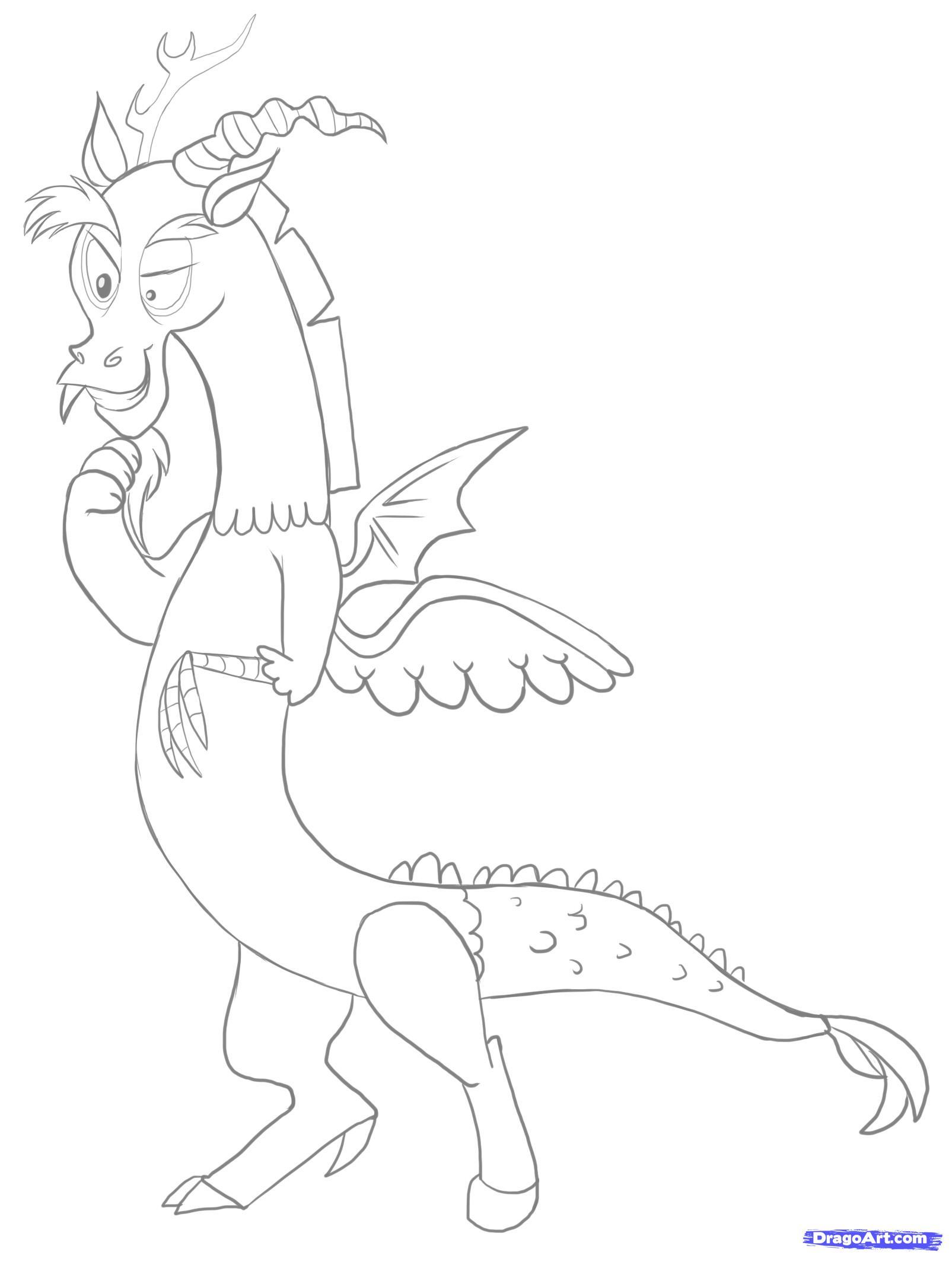 Drawn pony line art Step Draw How  Discord