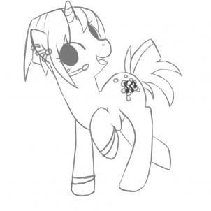 Drawn pony line art Step Draw How  My