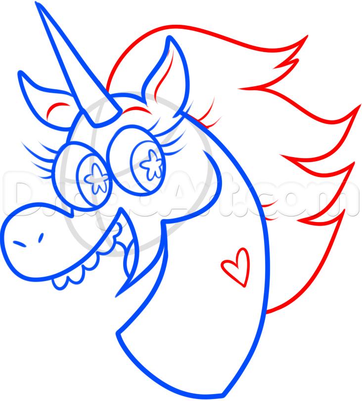 Drawn pony pony head Forces evil how Step step