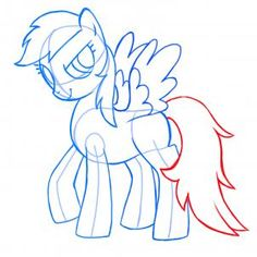 Drawn rainbow small To Little How My Pony