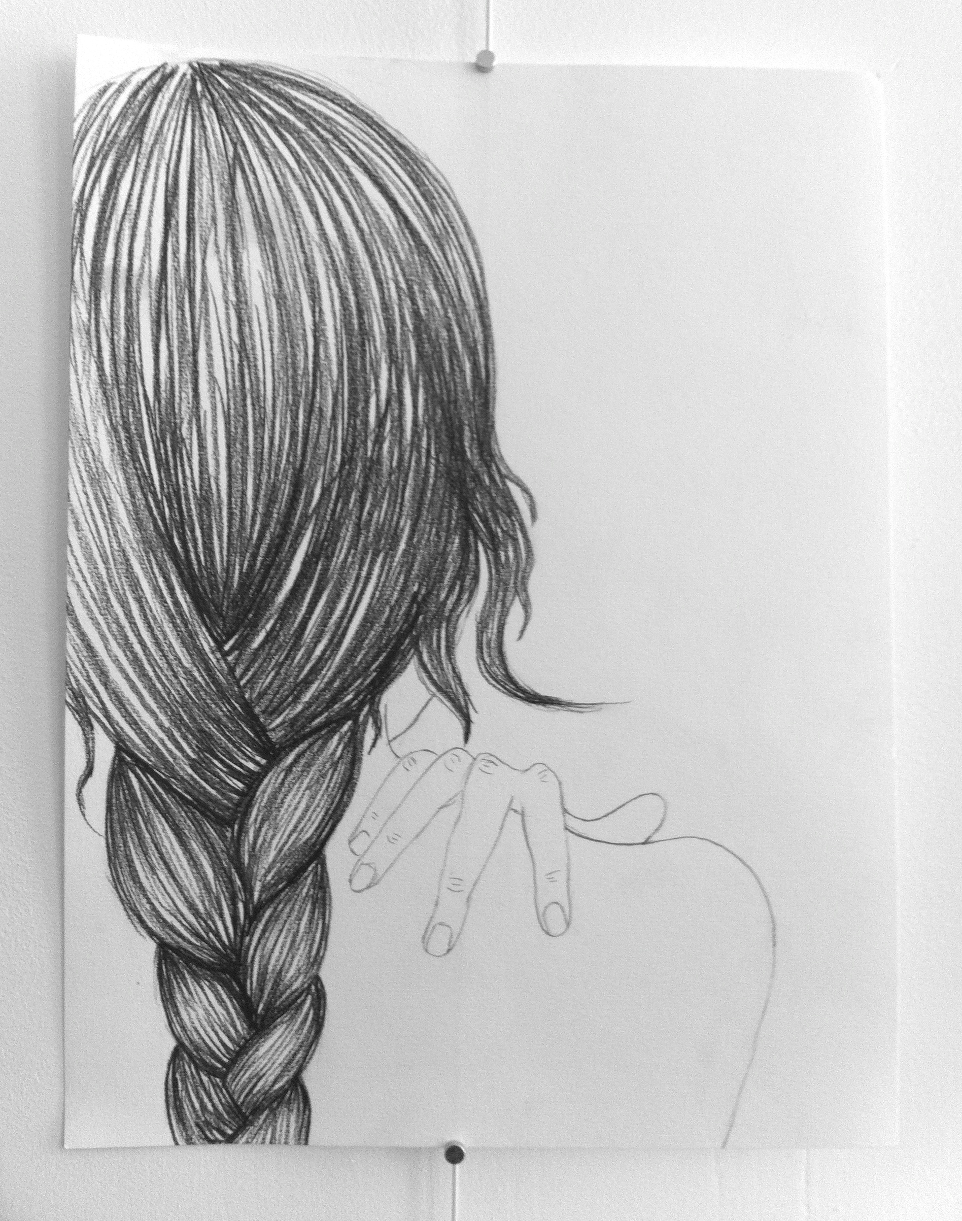 Drawn braid braided hair Draw Google Search a Search