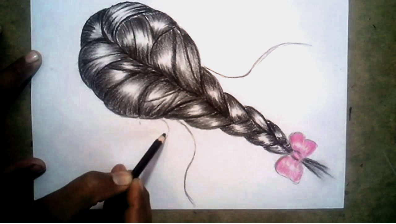 Drawn braid pencil drawing To Draw Braids Hair Pencil