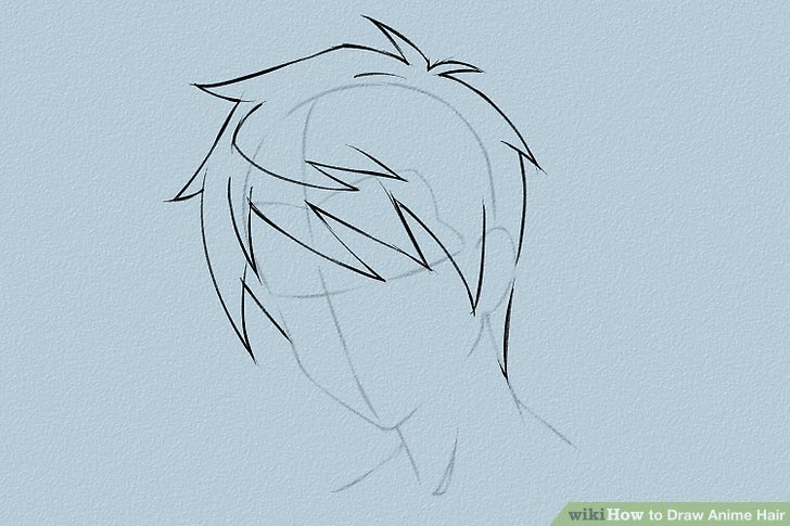 Drawn ponytail face WikiHow Draw Anime Ways Hair