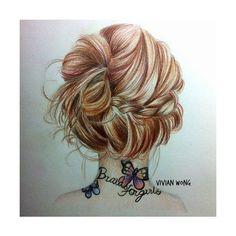 Drawn ponytail fashion  ponytails Fashion view Google
