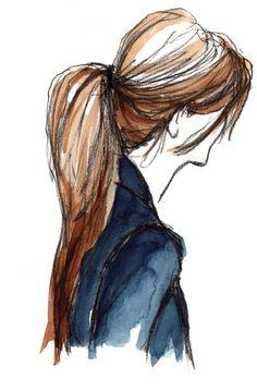 Drawn ponytail fashion Disegno  Friends Amiche Girls