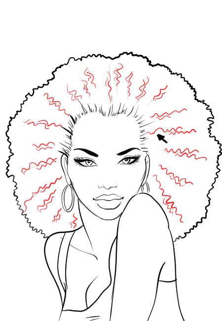 Drawn ponytail fashion Draw American I sketches draw