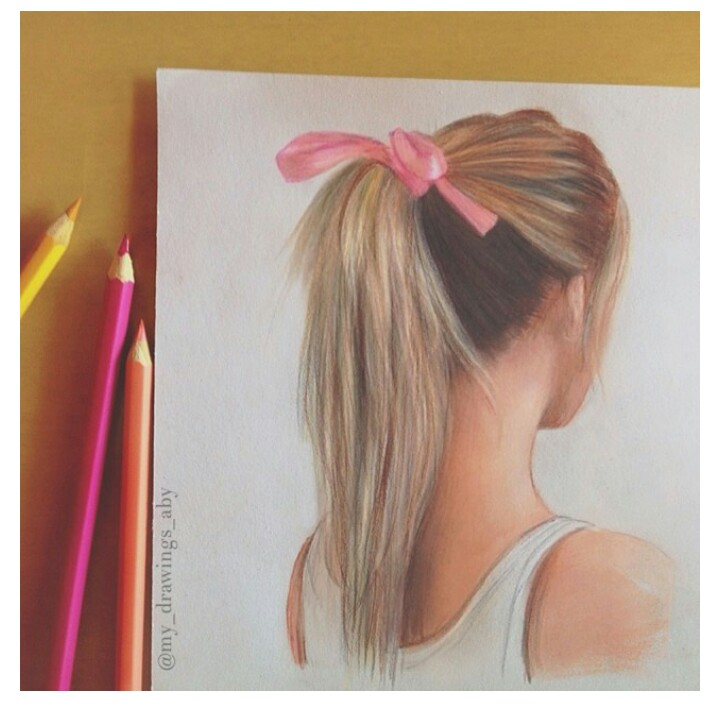Drawn ponytail fashion Pinterest Drawings of Characters Art