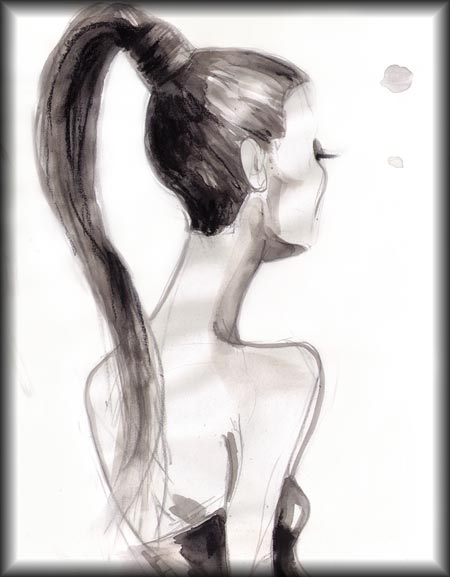 Drawn ponytail fashion To Draw HAIRLINE draw hair
