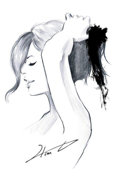 Drawn ponytail fashion Drawings on & 232 Illustrations