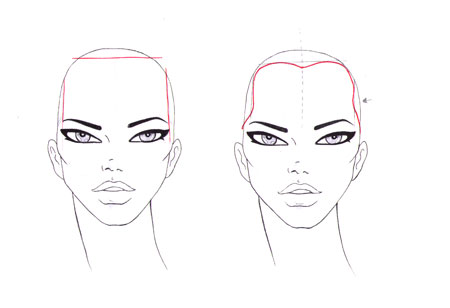 Drawn ponytail fashion Draw faces HAIRLINE draw How