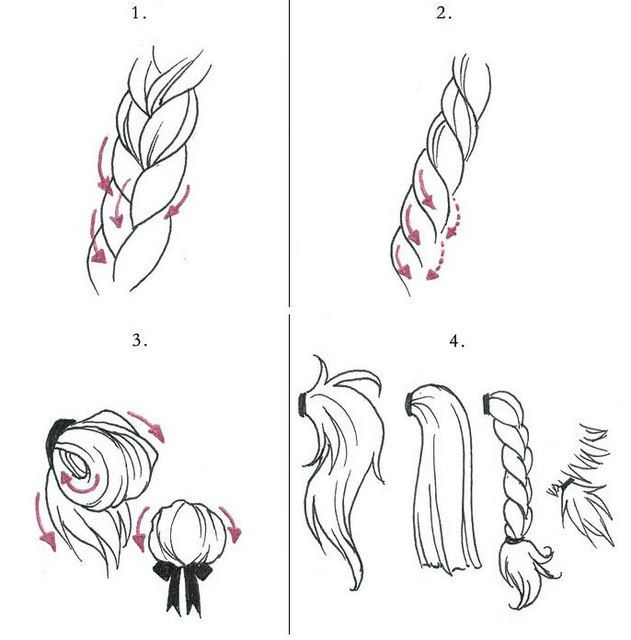 Drawn braid braid hairstyle 41 Pinterest about drawing drawings