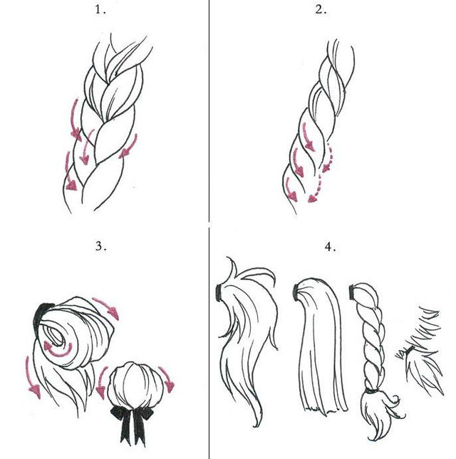 Drawn braid anime Tutorials Tutorials  reference was
