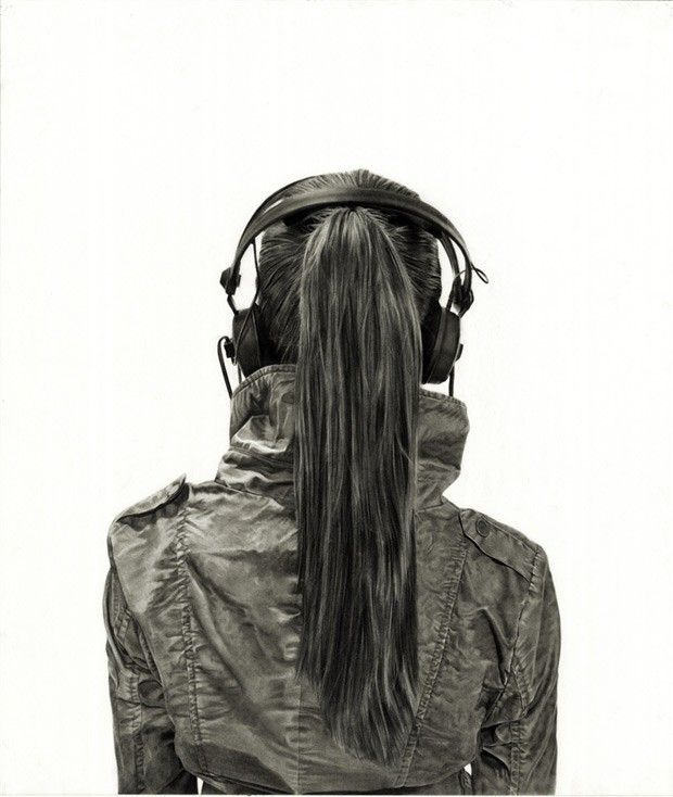 Drawn ponytail headphone Images sketch with best of