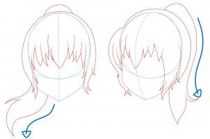Drawn ponytail To Step girl Anime step