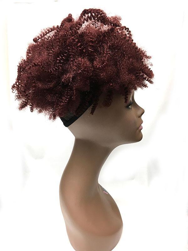Drawn ponytail human hair Hair  Tight Kinky Draw