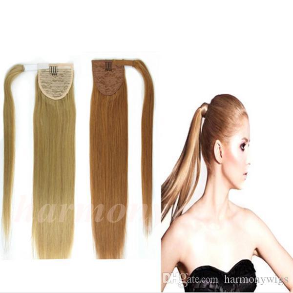 Drawn ponytail human hair Ponytail Human Blonde Top