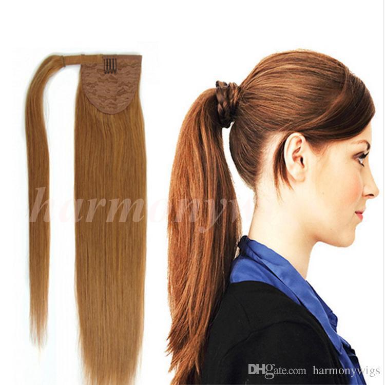 Drawn ponytail human hair Hair 100% Drawn 100% Straight