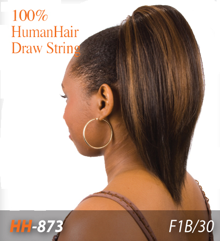 Drawn ponytail human hair Sense Hair Drawstring Ponytail Sense