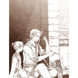 Drawn ponytail medieval Sitting leon taichi17 2boys len