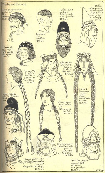 Drawn ponytail medieval Hats ideas 7 hair Shop