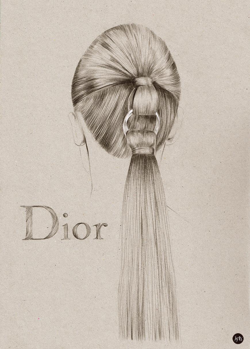 Drawn ponytail sketch — Thompson jpg Drawing Kelly