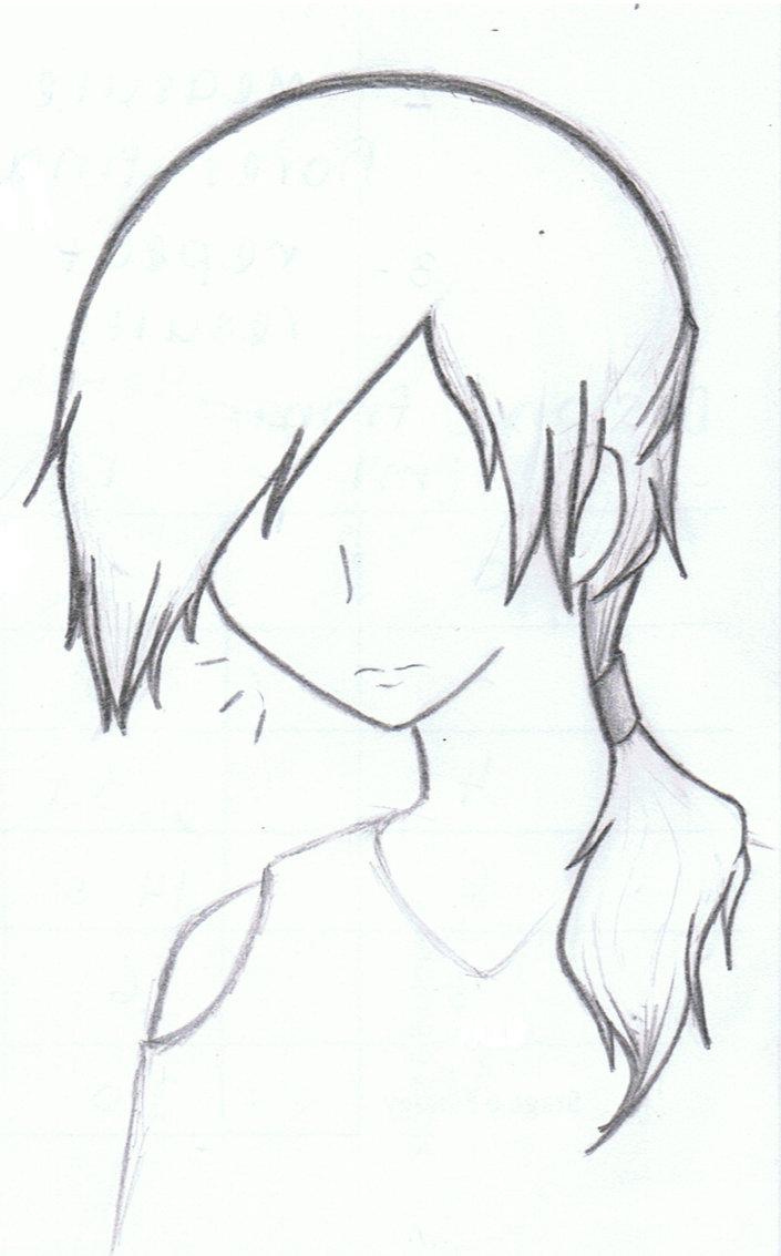 Drawn ponytail sketch Railgun10 Sonia Guy Railgun10 Guy