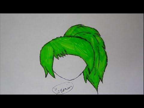Drawn ponytail sketch Draw Drawing Hair Tutorial: Tutorial: